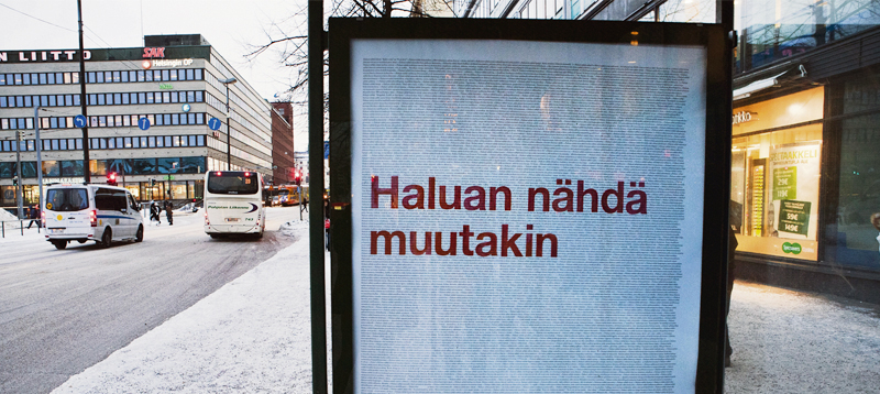 Tältä näytti Helsingin Hakaniemessä tammikuussa 2011.