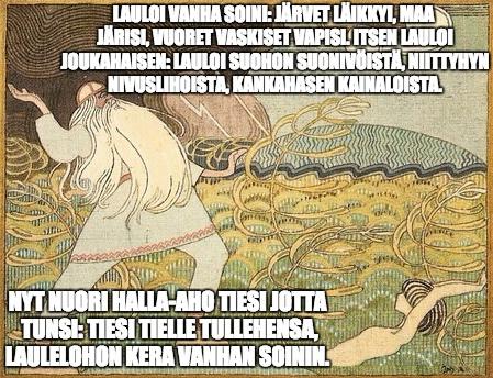Soinamoinen laulaa Halla-ahokaisen suohon.