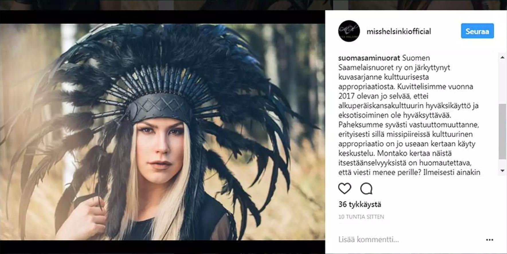 Nyt kävi näin. Tämä kuvassa näkyvä kommnetti katosi Miss Helsinki -kilpailun internetistä. Mutta eihän mikään nettiin päässyt milloinkaan netistä katoa. Kuvakaappaus NYT.fi.
