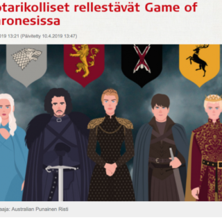 """""""Sotarikolliset rellestävät!"""" Game of Thrones sai arvion Punaiselta ristiltä."""