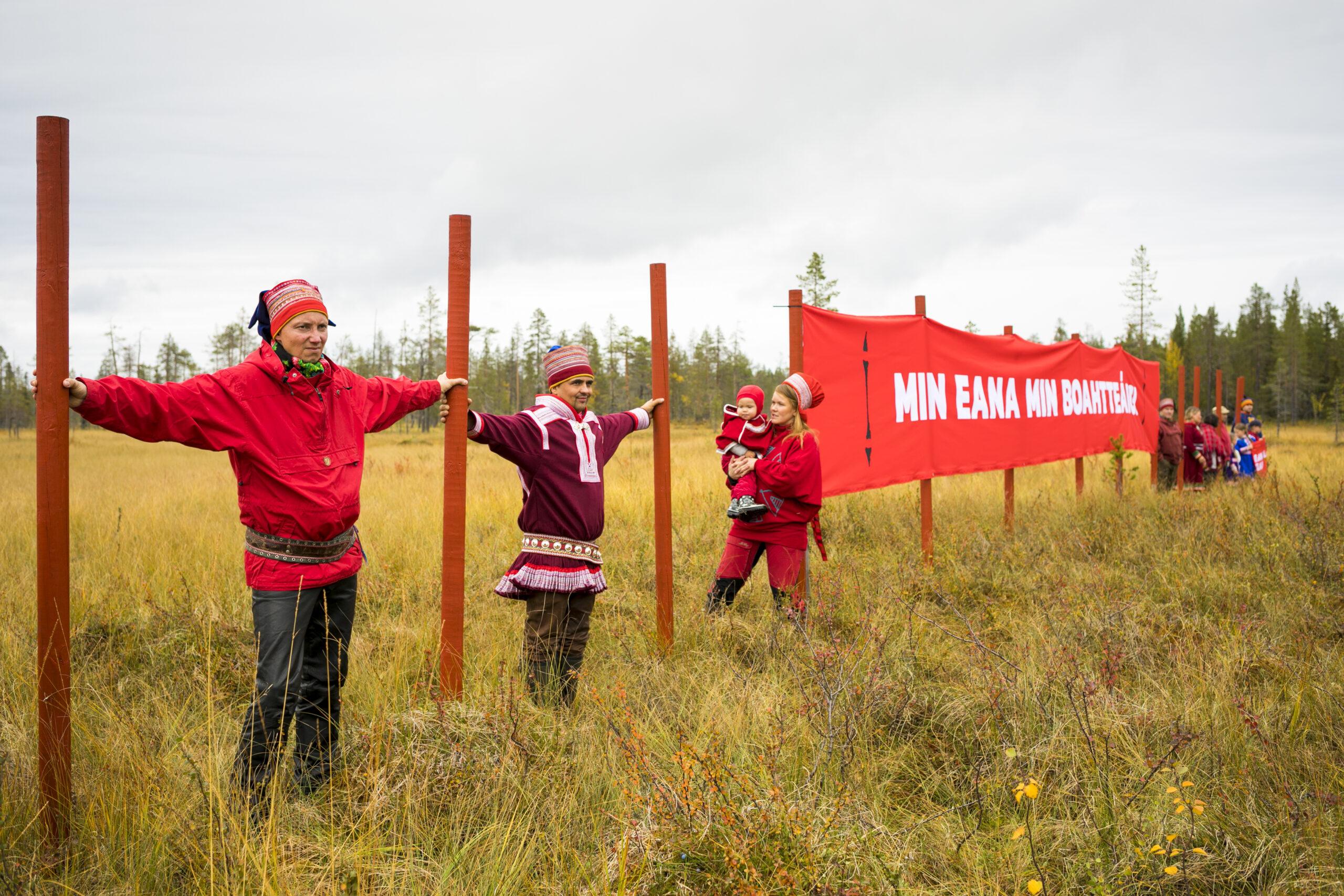 Ensimmäinen punainen viiva vedettiin Vuotson eteläpuolella sijaitsevalle Pikkujänkälle, jonka kohdalla Jäämeren rata saapuisi Saamenmaalle.