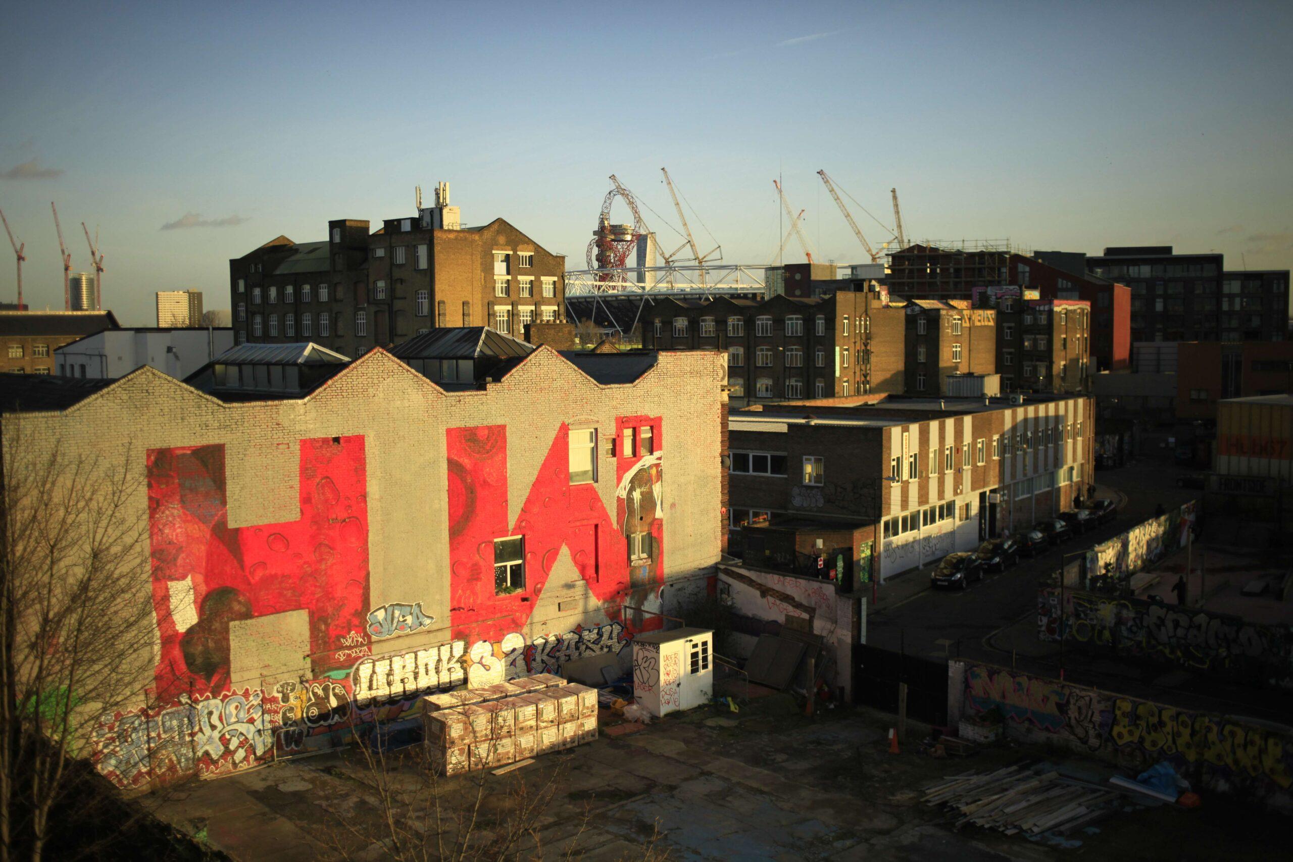 Hackney Wick on yli 100 taiteilijan koti. Kuva: Sara Kärpänen