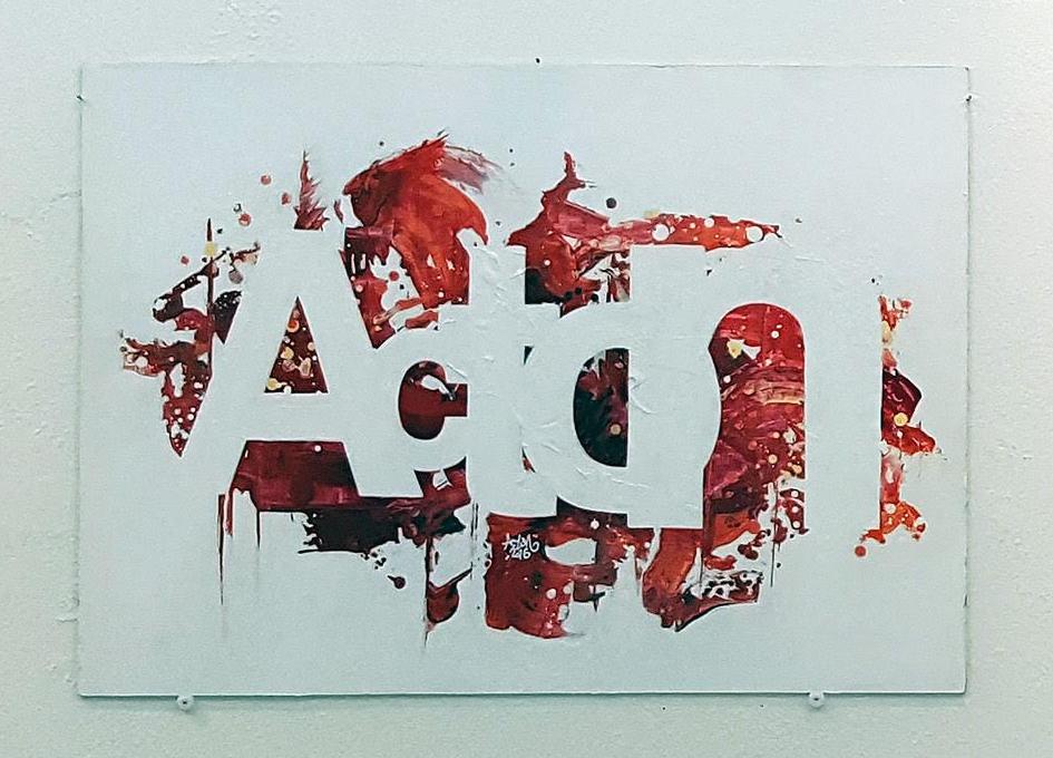 Acton/Helvetica, variaatio samasta teemasta kuin artikkelin alussa näkyvässä kuvassa.