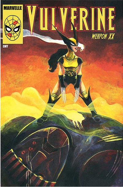 Tämä Emyn naispuolinen tulkinta macho-äijä Wolverinesta omaa kaupallista potentiaalia. Wolverinen naispuolinen seuraaja/klooni/lapsi löytyy jopa sarjakuvalehtien sivuilta nimellä X23.
