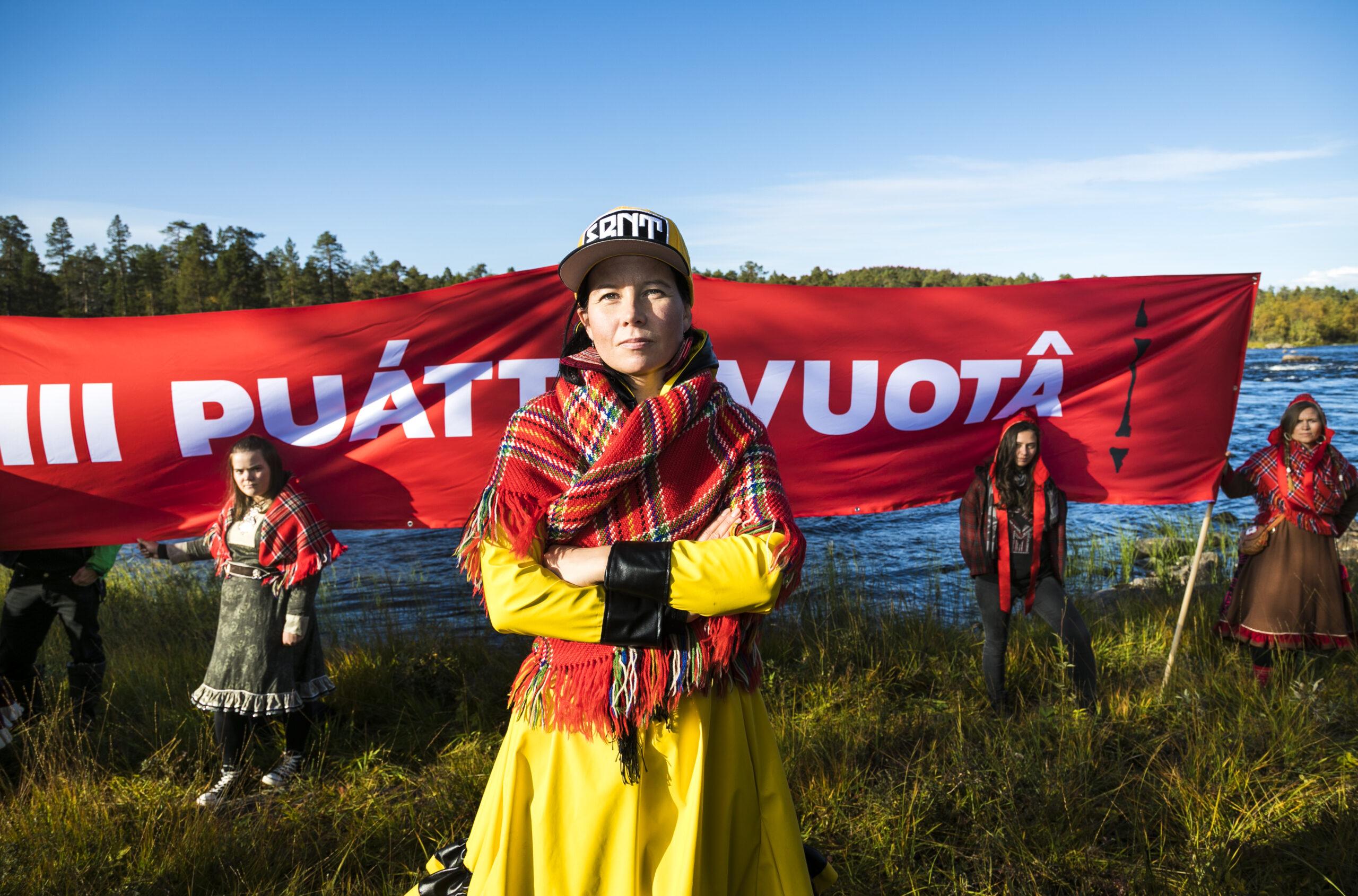 Red Line -mielenosoitukset ideoinut ja koolle kutsunut Jenni Laiti Suohpanterror-ryhmästä. KUVA: Jonne Sippola