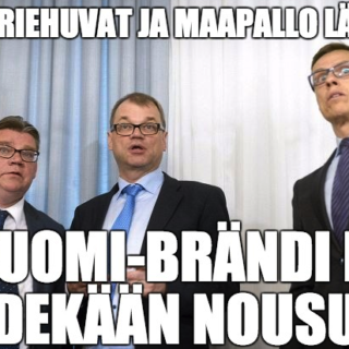 Suomi-brändi vessasta alas?