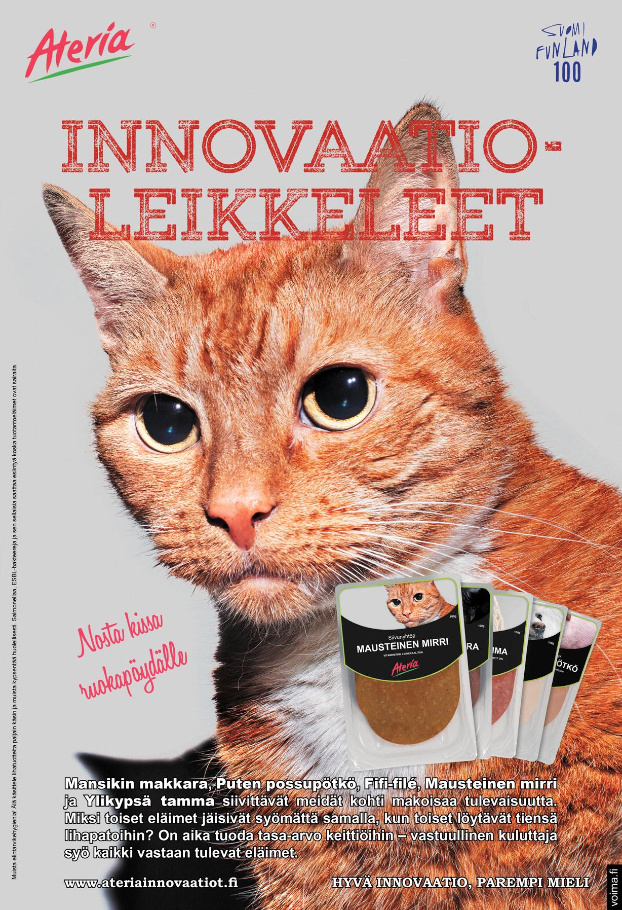 """""""Nosta kissa ruokapöydälle."""" Jossain kissoja hellitään ja jossain kissoja syödään. Ei voi väittää, että me ihmiset olisimme erityisen johdonmukaisia näissä hommissa. Siinä, missä suuri yleisö ei korvaansa lotkauta tapetusta possusta, nostattaa kissan tappaminen melkoisen myrskyn – joka ei ei unohdu vuosikymmenissä."""