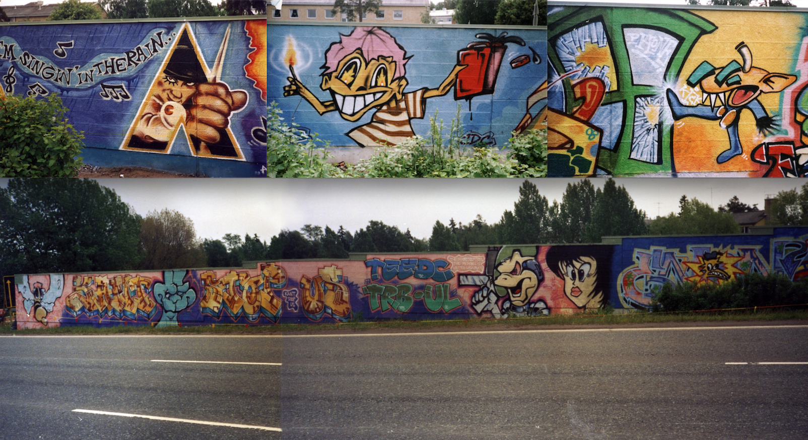 Kuliksen muuri vuosimallia 1991. Tämä kuvasto muodostui tutuksi monelle, myös kirjoittajalle.