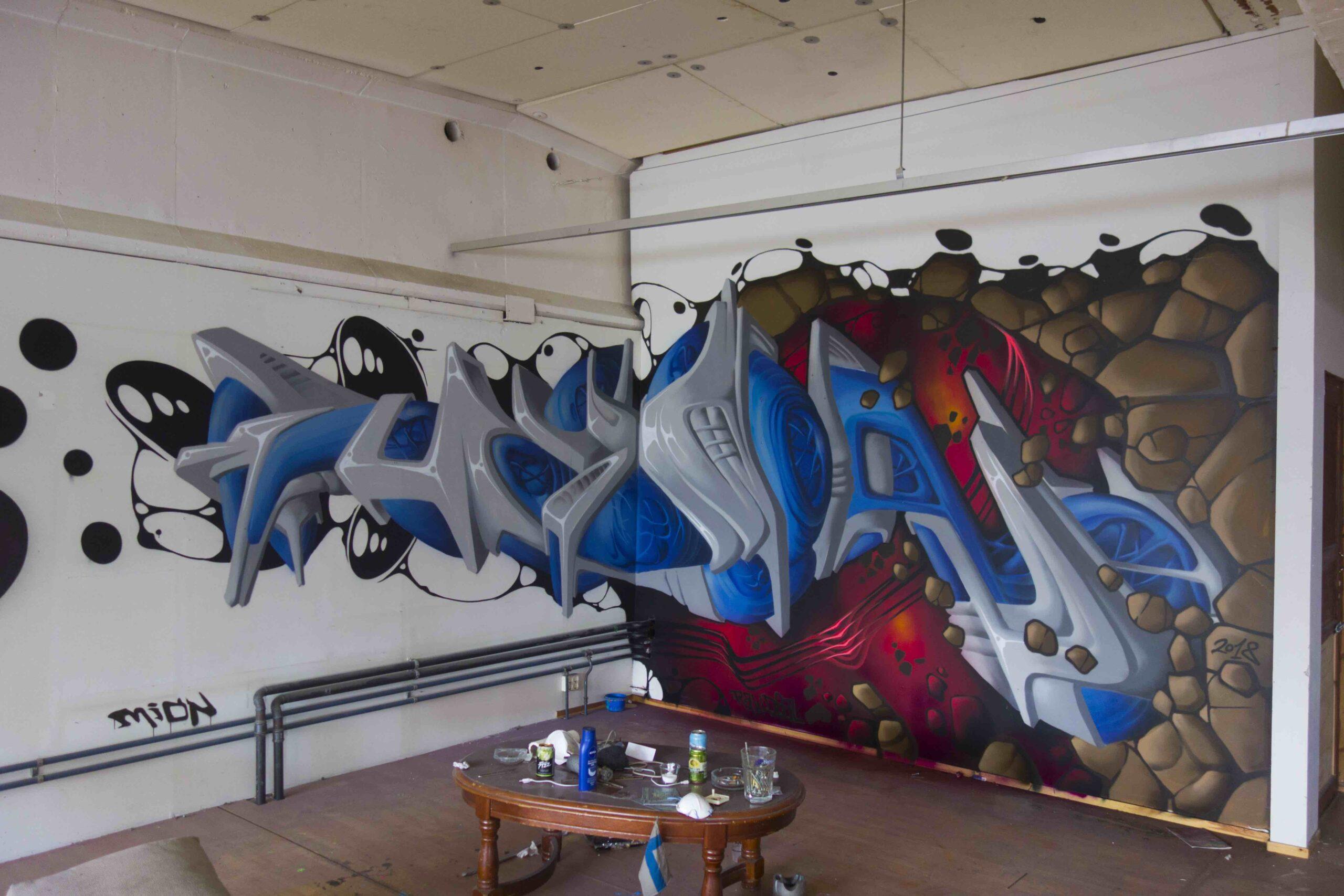 MION koettelee graffitin rajoja (ja luettavuutta) scifi-futuristisella typografiallaan.