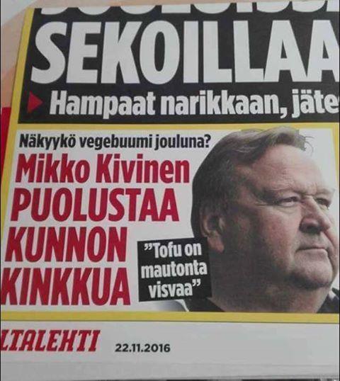 Mikko, Kivinen, tofu, eläinoikeudet, journalismi