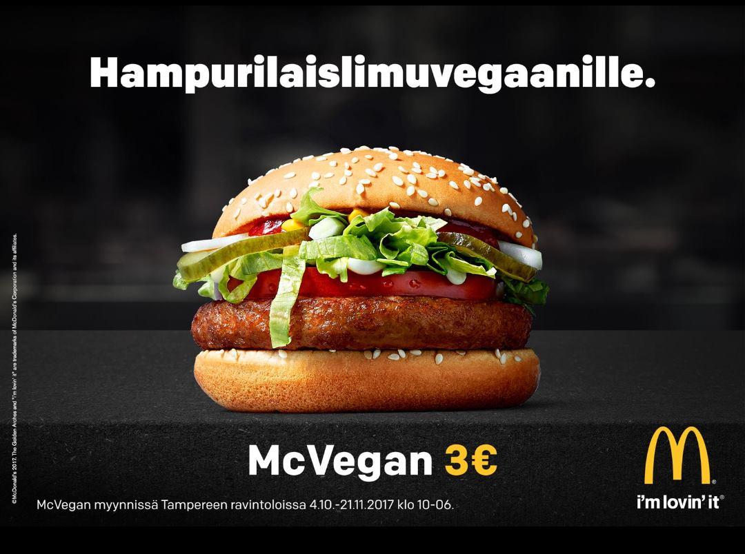 Näyttääkö vallankumous tältä? Vegaanimättö normalisoi kasvisruokaa enemmän kuin kaikki maailman mielenosoituksen yhteensä. Onko silloin ihan jees olla välittämättä Mäkkärin muista synneistä?