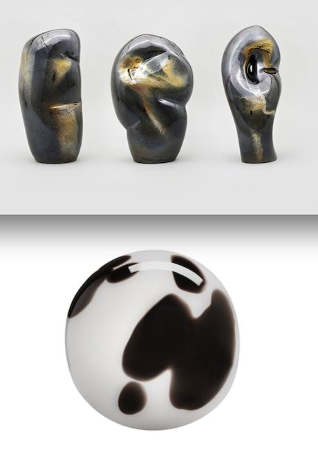 Lasista puhallettu Fragile Identity -teos sisältää kirjaimet e, g ja s. Maapallon muotoisen Egg Earth -teoksen nimen voi tulkita vaikka viittaavan siihen, kuinka herkästi särkyvä planeettamme on.