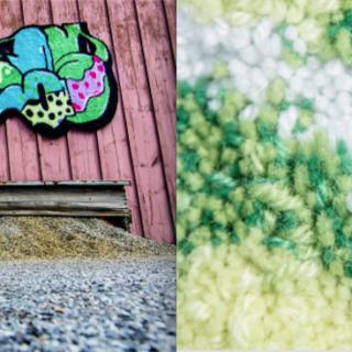 Kova graffiti, pehmeä ryijy