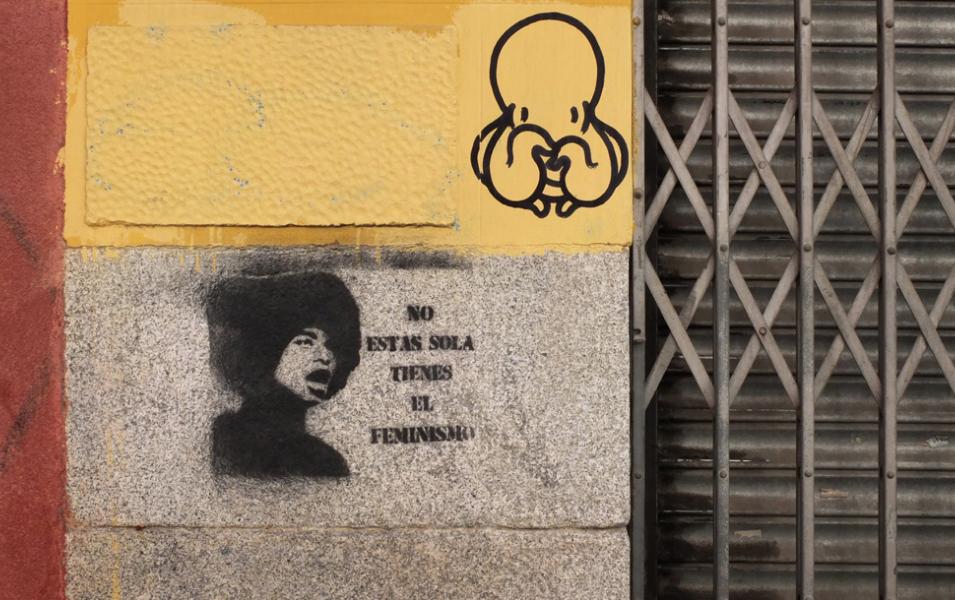 """""""Et ole yksin, sinulla on feminismi."""" KUVA: Jonna Tolonen (Madrid)"""