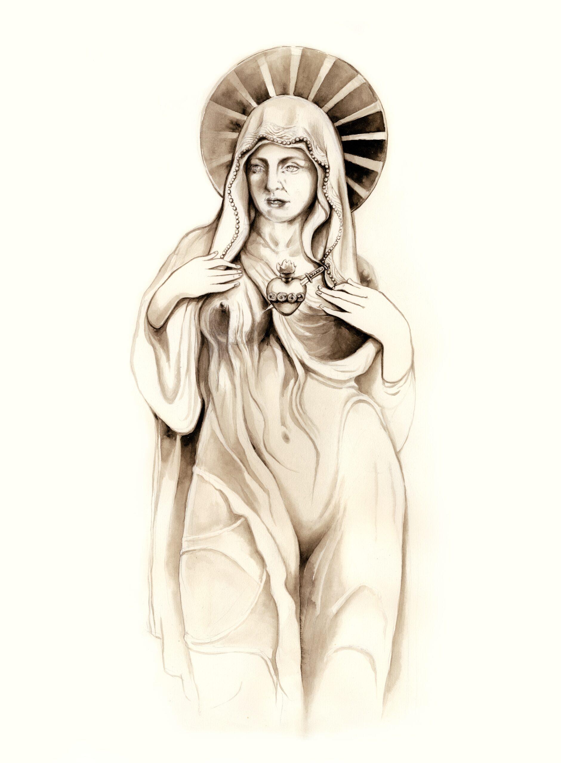 KAKSI ROOLIAItalia on täynnä puistoja ja nämä puistot ovat täynnä vanhoja patsaita. Monet puistoista ovat All Male Panel -kokemuksia, joissa patsaiden parrakkaat setämiehet pohtivat viisaita ja/tai ovat valmiita sotaan hevosen selässä. Välillä puistoissa voi myös kohdata naisia esittäviä patsaita. Näissä patsaissa naisille on tarjottu vain ja ainoastaan kaksi roolia: kaino Neitsyt Maria sekä rintansa paljastava Afrodite/Venus-hahmo. Nämä kaksi roolia eivät vahingossakaan sekoitu keskenään. Koska me ihmiset olemme todellisuudessa monimutkaisia otuksia, päätimme sotkea nämä roolit tämän artikkelin kuvituksessa. Samoin Pihtarihuorat sotkevat näennäisen vastakkaiset roolit yhteen. Tarkoitus ei ole rienata. Tarkoitus on muistuttaa, että kukaan meistä ei ole yksinkertainen tai -ulotteinen. KUVA: Ninni Kairisalo