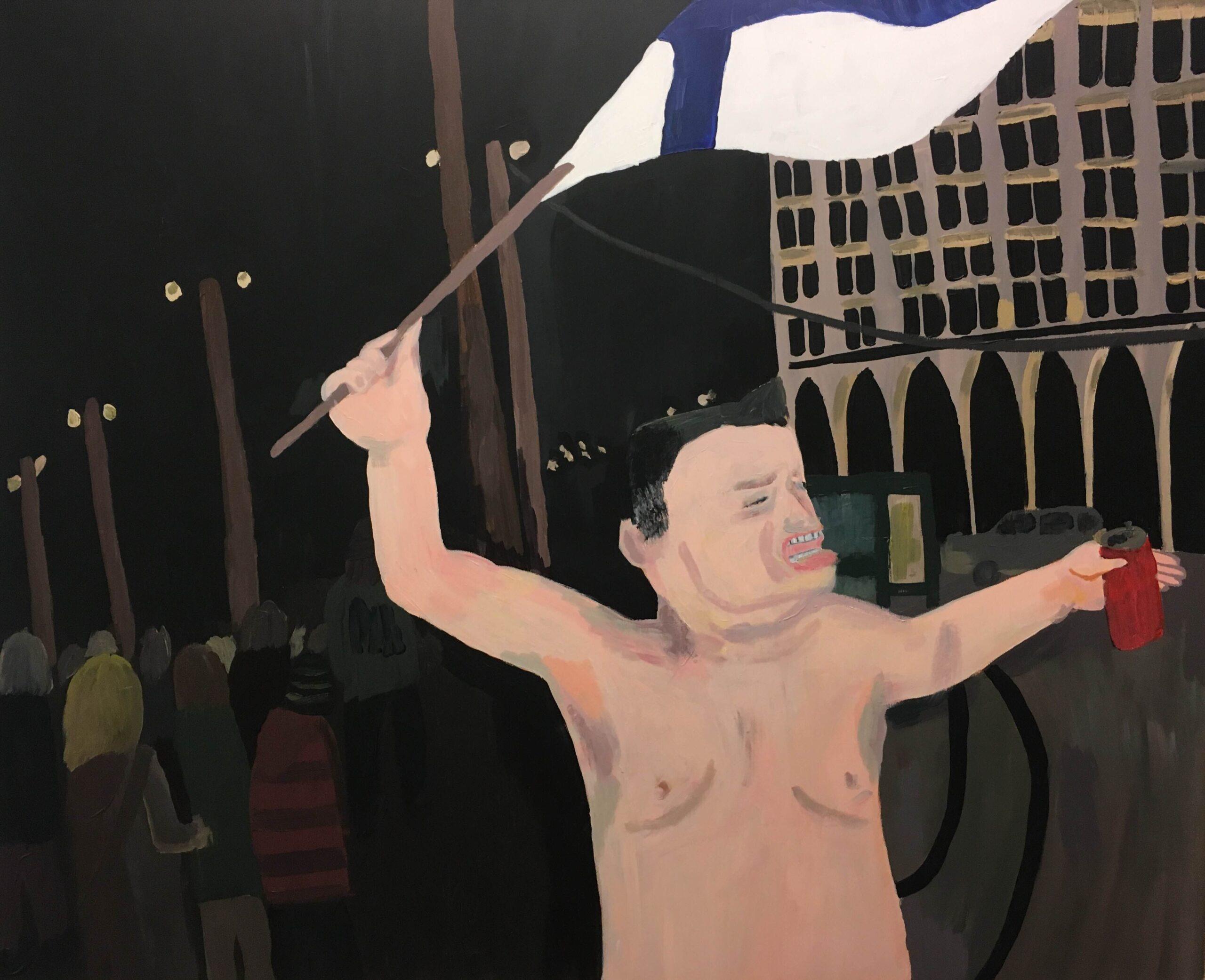 Vuoden 1995 kultajuhlien jälkeen torilla tapaamisesta on muodostunut, jos ei sentään kansallinen, niin vähintään helsinkiläinen instituutio. Tämä lippua heiluttava sankari on muodostunut tuon kansanperinteen symboliksi.