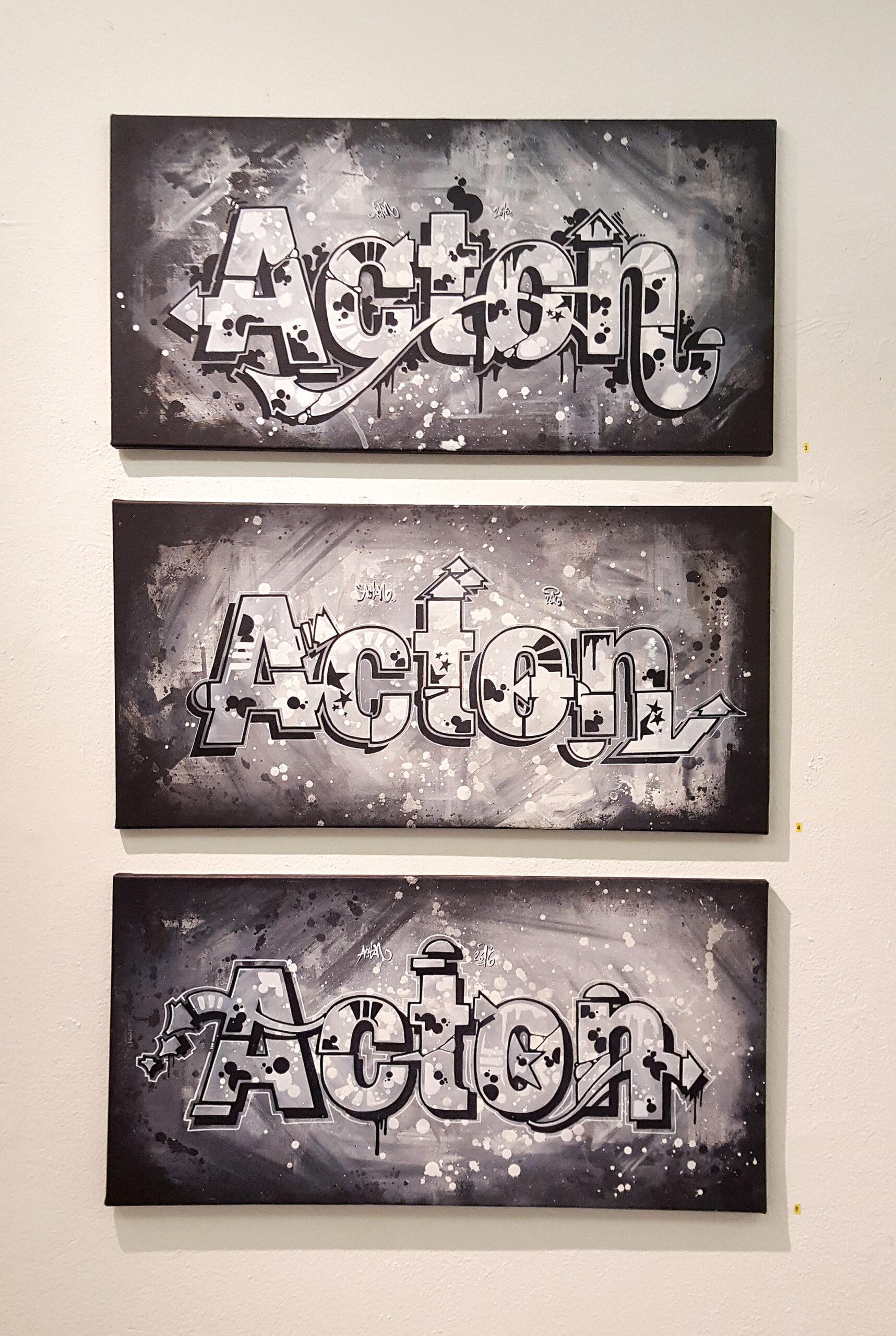 Graffiteissa toistuvasti jatketaan kirjaimia erilaisin lisäkkein ja ulokkein. Oheisissa Acton/Helvetica-teoksissa nämä eri ulokkeet erottuvat selvästi Helvetika-kirjaimista. Näille ulokkeille on annettu nimiä ja Anssi Arte on tutkinut niiden olemusta sekä kehitystä Taideteolliseen korkeakouluun tekemässään gradussa ja siitä muokatussa kirjassa Forms of Rockin'. Arte luettelee swirlit, sandwitchit, cut segmentit, splashit ja loopit.