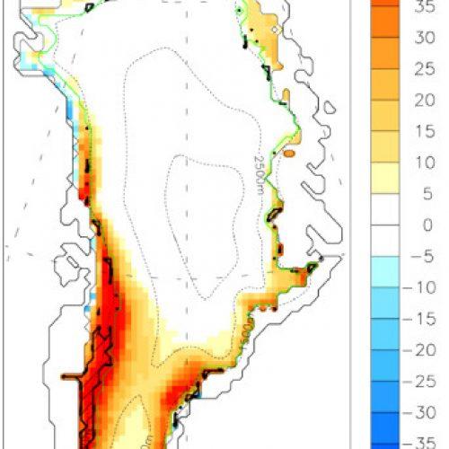 Ennätysvuosi Grönlannin jäätiköllä