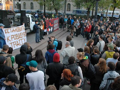 Mielenosoituksessa Moskovassa
