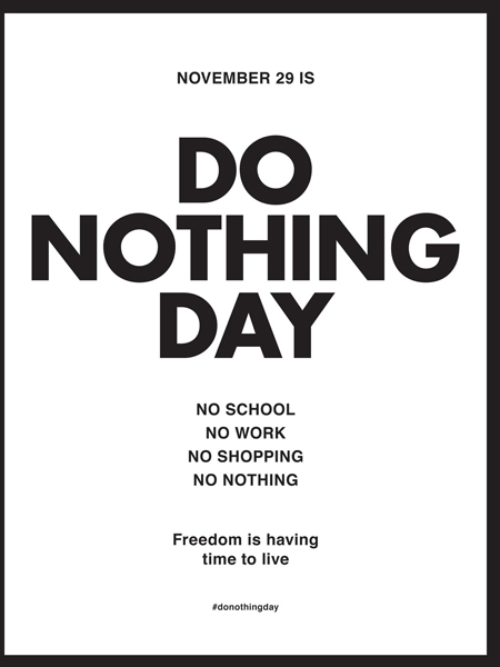 Älä tee mitään -päivä?