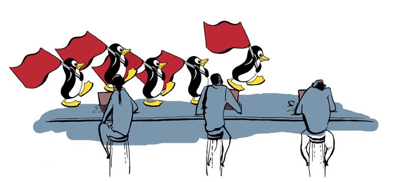 Punalippu-Linux ja Kiinan palomuuri