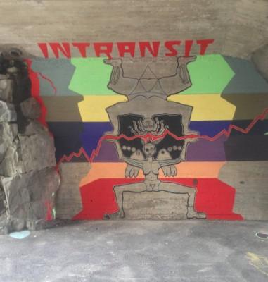 Granlundilla meni pitkään, ennen kuin hän sai luvan maalata betonille. Vuosien ajan hän joutui maalaamaan vanerilevyille, jotka sitten pultattiin seinään. Suoraan betoniin maalaamisen pelättiin kannustavan graffitimaalareita. Vuosien yrittämisen jälkeen kesällä 2012 heltisi ensimmäistä kertaa lupa maalata suoraan betonille. Tänä vuonna sitkeys palkittiin jälleen kerran ja hän pääsi maalaamaan Helsingin halkaisevan Baanan seinään. Teemaksi valikoitui monimuotoisuus ja siirtymät (kuvassa teos vielä keskeneräinen).