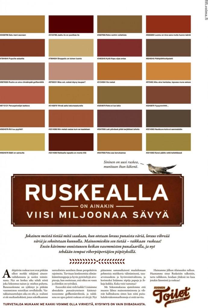 Suomen Toilet. Mitä saadaan kun sekoitetaan punaista ja vihreää? 21/2010