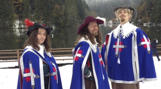 Kolme muskettisoturia kolusi Euroopan sulkeutuvia rajoja