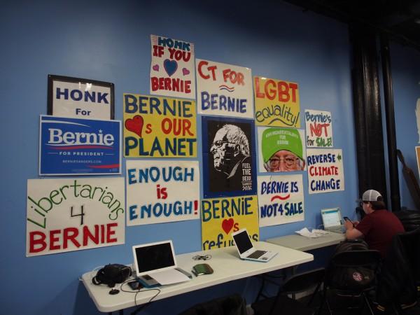 Bernie Sandersin kampanjatoimisto.