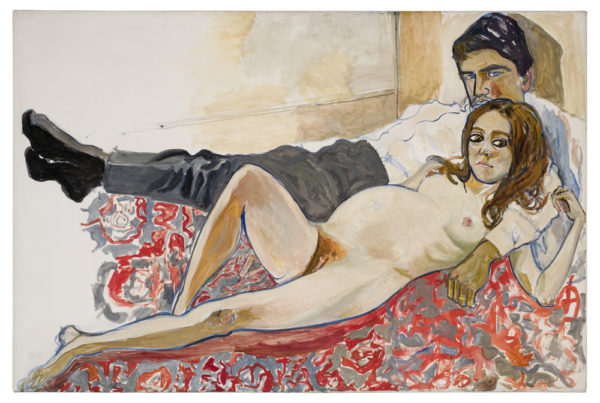 Alice Neel: Lasta odottava Julie ja Algis (1967) Kuva: Malcom Varon, New York, Estate of Alice Neel