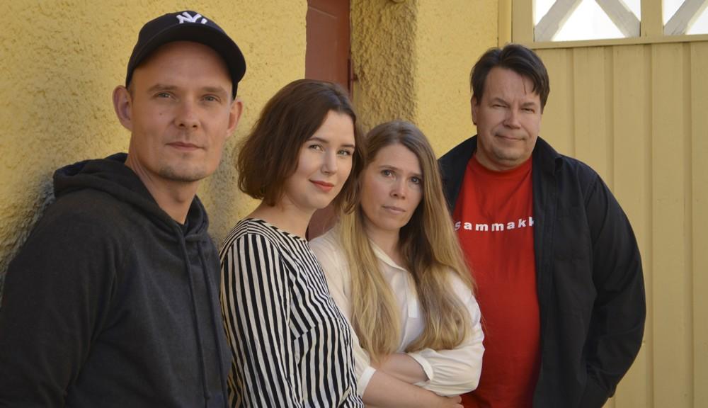 Sammakon kustannuspuolta tehdään neljän tekijän yhteisvoimin: Henry Lehtonen, Helena Kulmala, Riikka Majanen ja Seppo Lahtinen.
