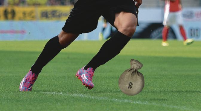 Likaista peliä ja rahasäkkejä