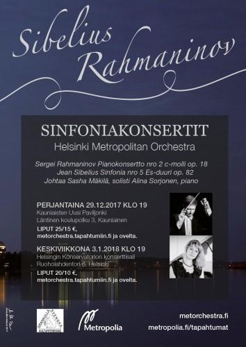 Helsinki Metropolitan Orchestra sinfoniakonsertti 3.1.2018