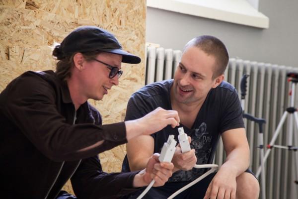 Jesse Avdeikov ja Antti-Ville Reinikainen ovat ottaneet paljon vastuuta rakennustöistä.