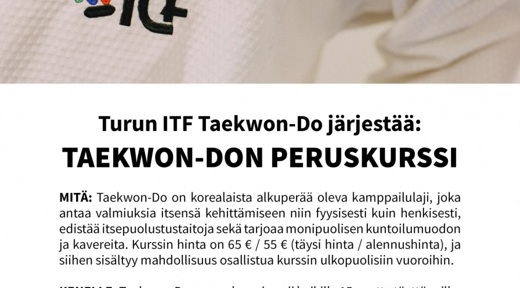 juliste_Turun ITF Taekwon-Do