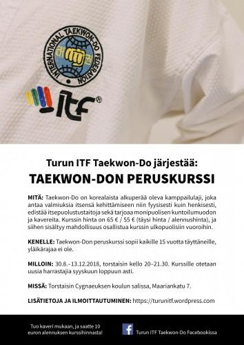 juliste_Turun ITF Taekwon-Do