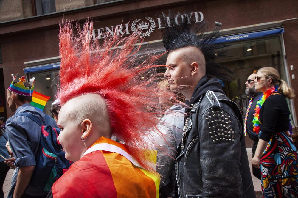 Punk-perhe.