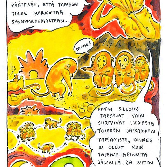 Sarjakuvataitelija Jiipu Uusitaloa kiinnostavat vallan rakenteet niin teoksissaan kuin arkielämässään