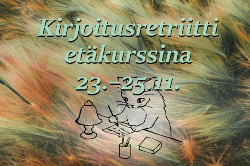 Kirjoitusretriitti etäkurssina 23.–25.11.