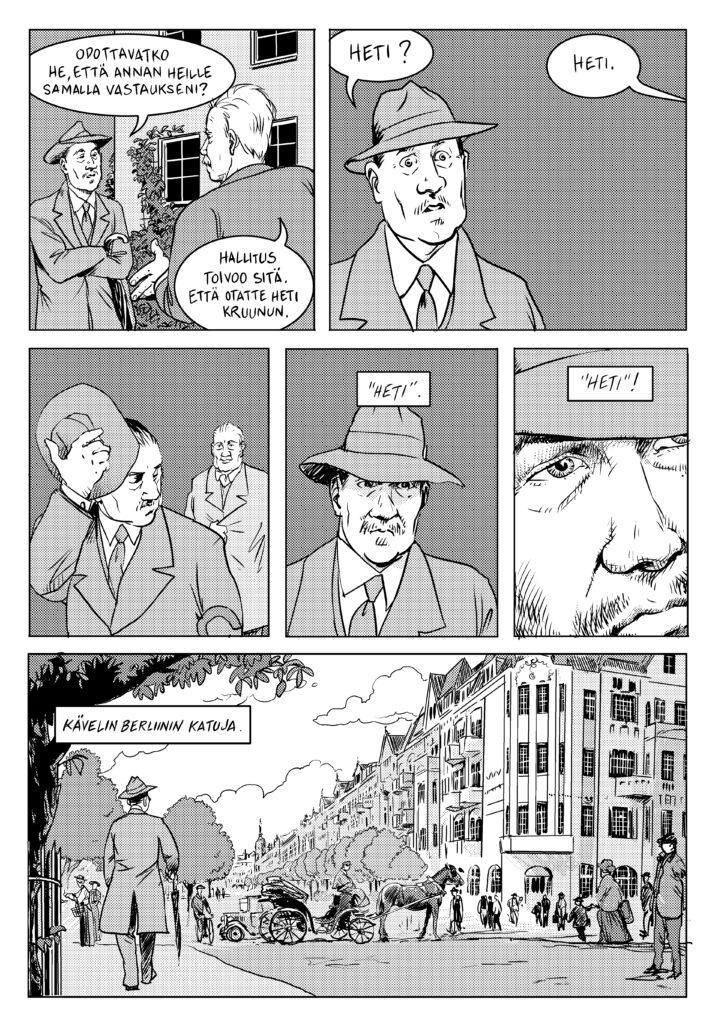 Ote Anssi Rauhalan ja Matti Niemisen sarjakuvasta Väinö I
