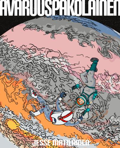 Jesse Matilaisen Avaruuspakolainen-sarjakuvan kansi