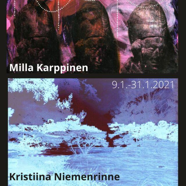Milla Karppinen & Kristiina Niemenrinne -taidenäyttely.