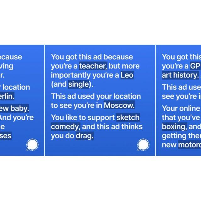 Olivatko Signalin mainokset liian rehellisiä Facebookille? Yhtiö kiistää keskeyttäneensä mainoskampanjan, mutta pitääkö se paikkansa?